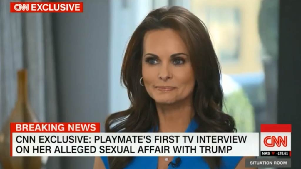 Former Playmate alleges sexual affair with Trump