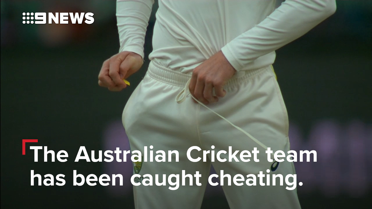 The Australian cricket team has been caught cheating