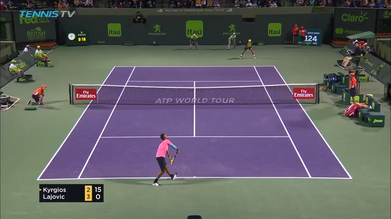 Kyrgios shows his class against Lajovic