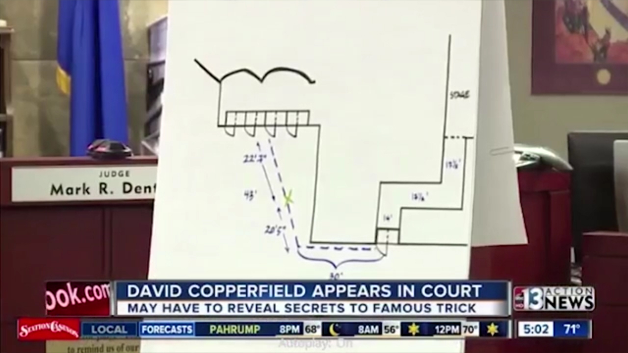 Copperfield's Illusion displayed in court