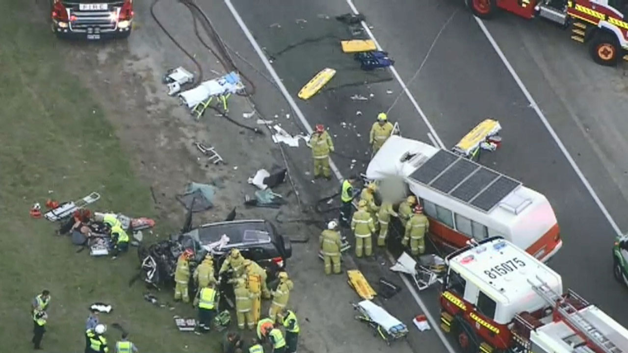 Woman dies after bus and SUV collide in Perth's south