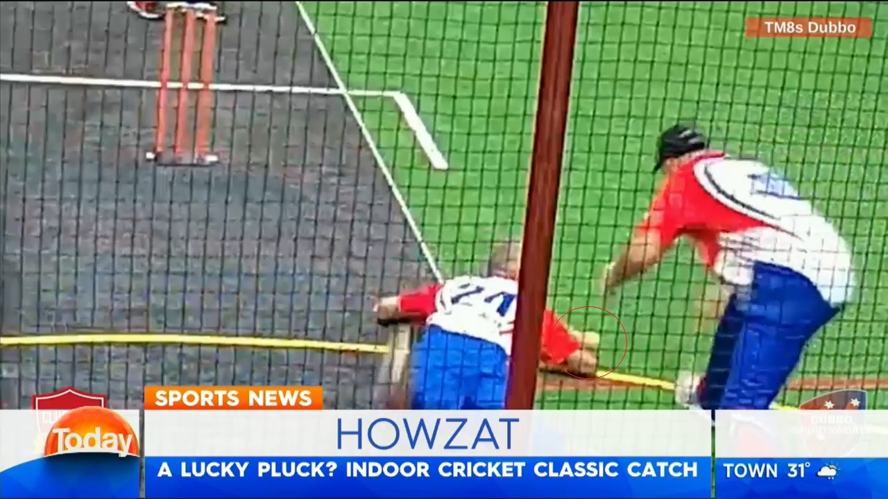 TODAY: Classic cricket catch in Dubbo