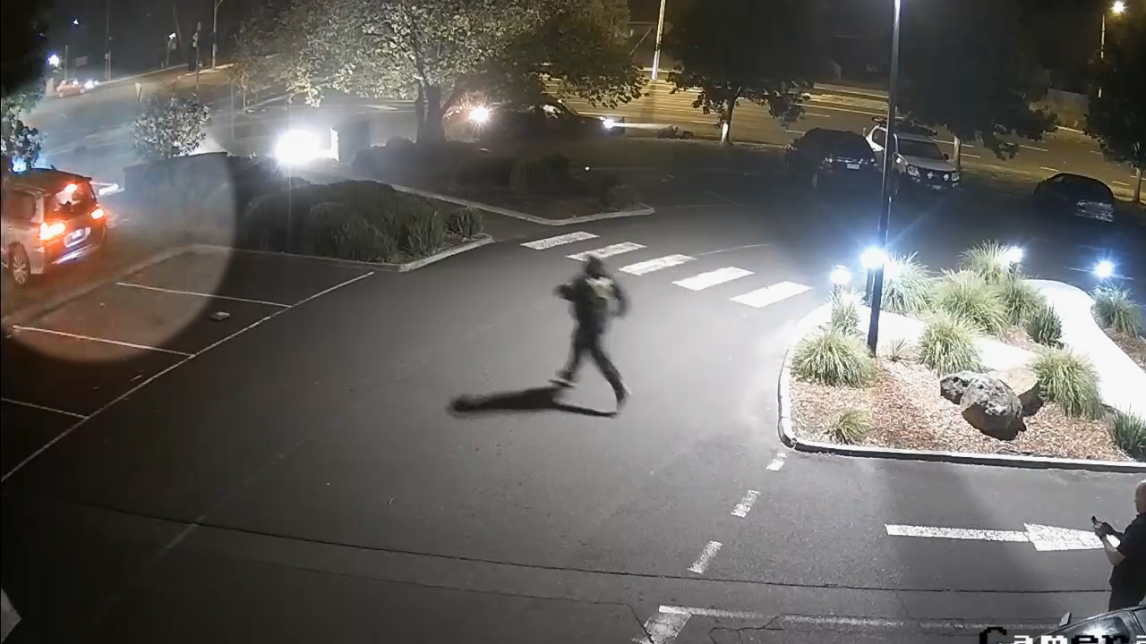 CCTV captures teen running from horrific hit-run