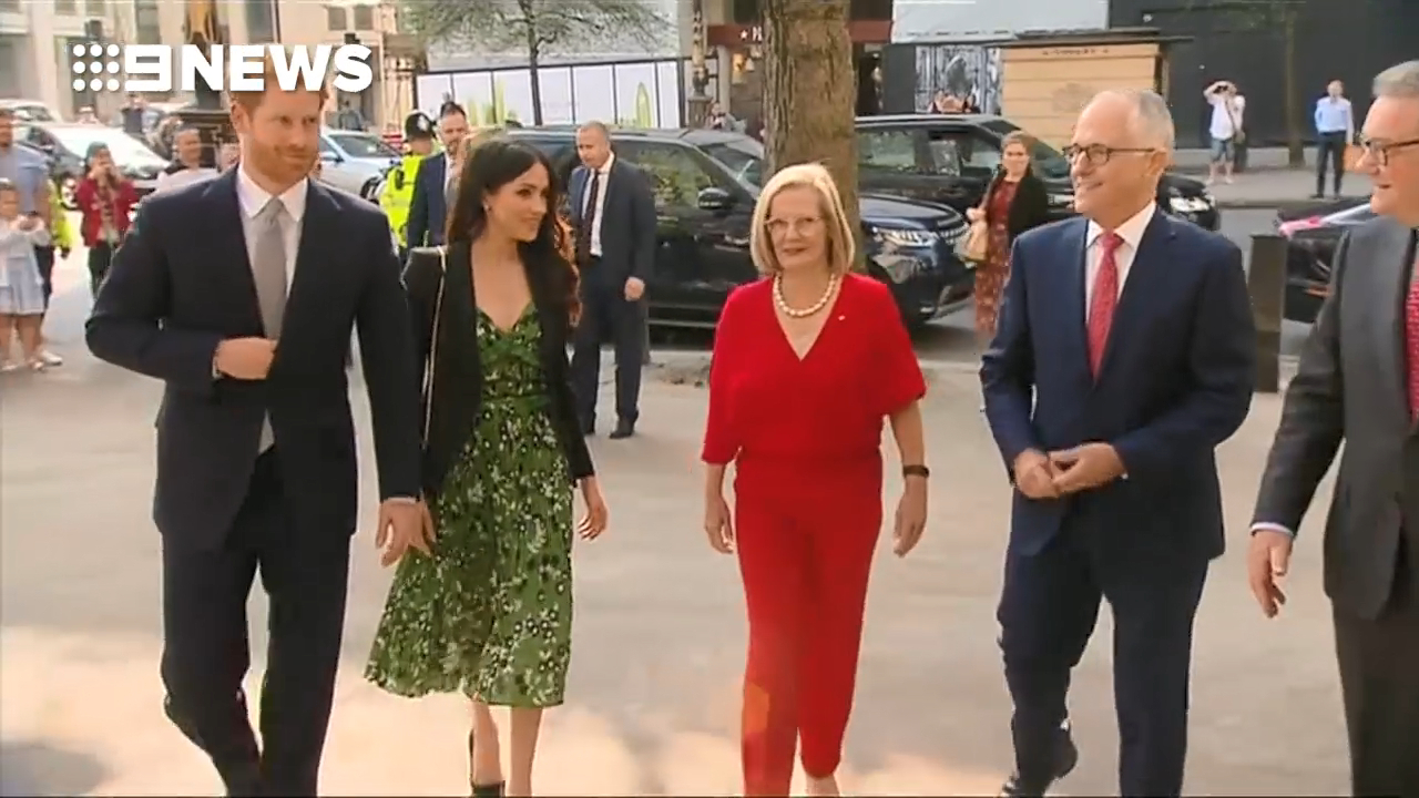 Malcolm Turnbull meets Prince Harry and Meghan Markle