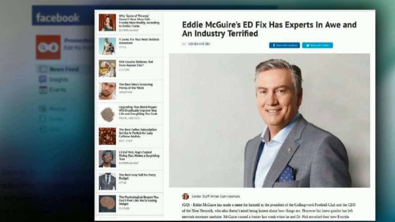 Eddie McGuire to sue Facebook over fake ad