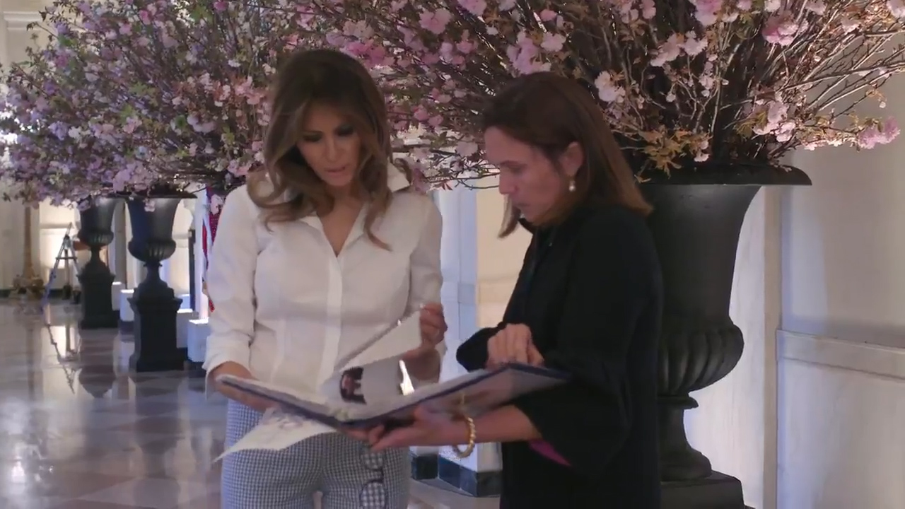 US First Lady Melania Trump gives a behind-the-scenes look