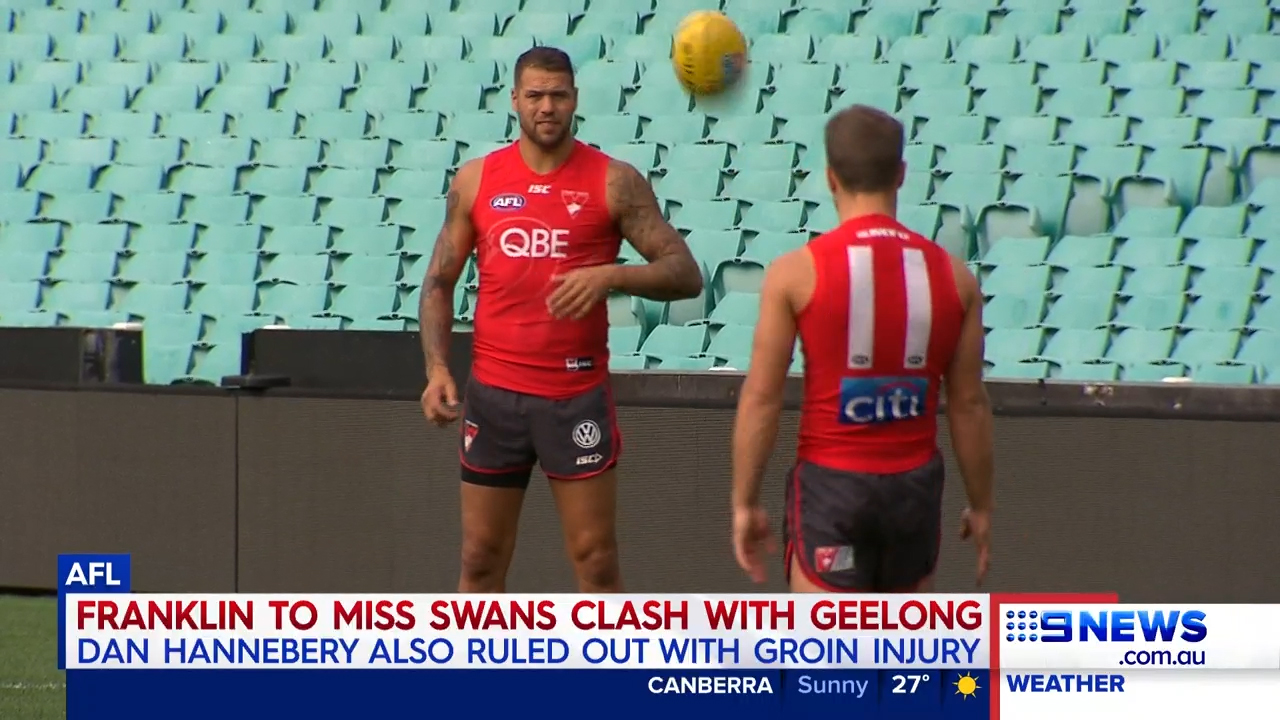 Franklin in injury blow for Swans