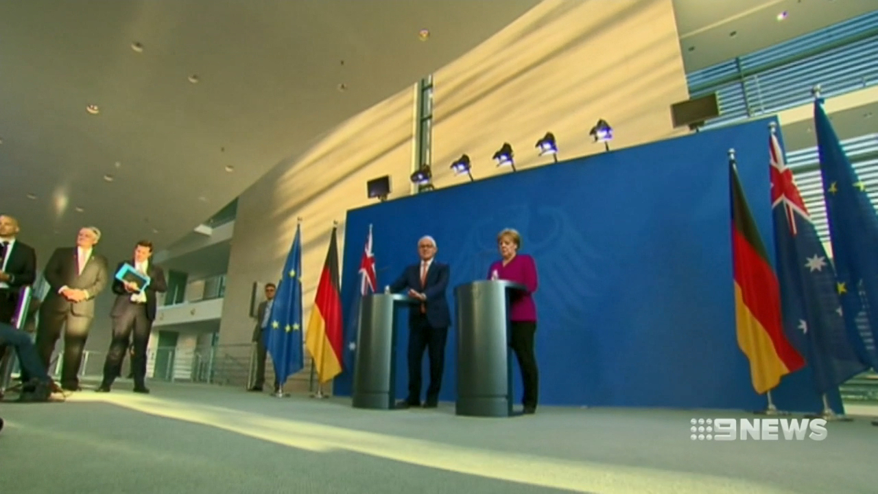 Turnbull has Germany's support on trade