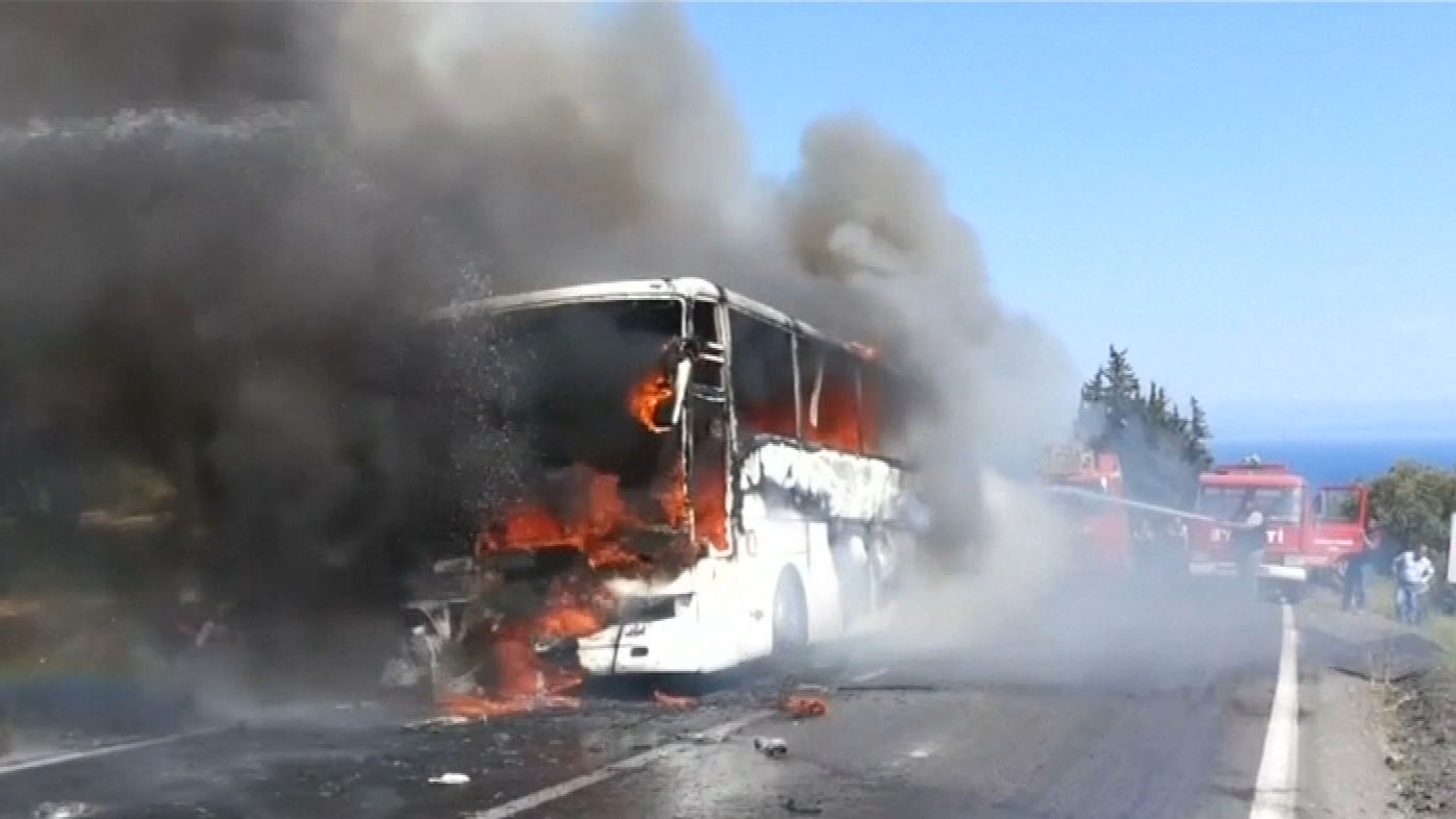 Aussies caught up in Gallipoli bus fire
