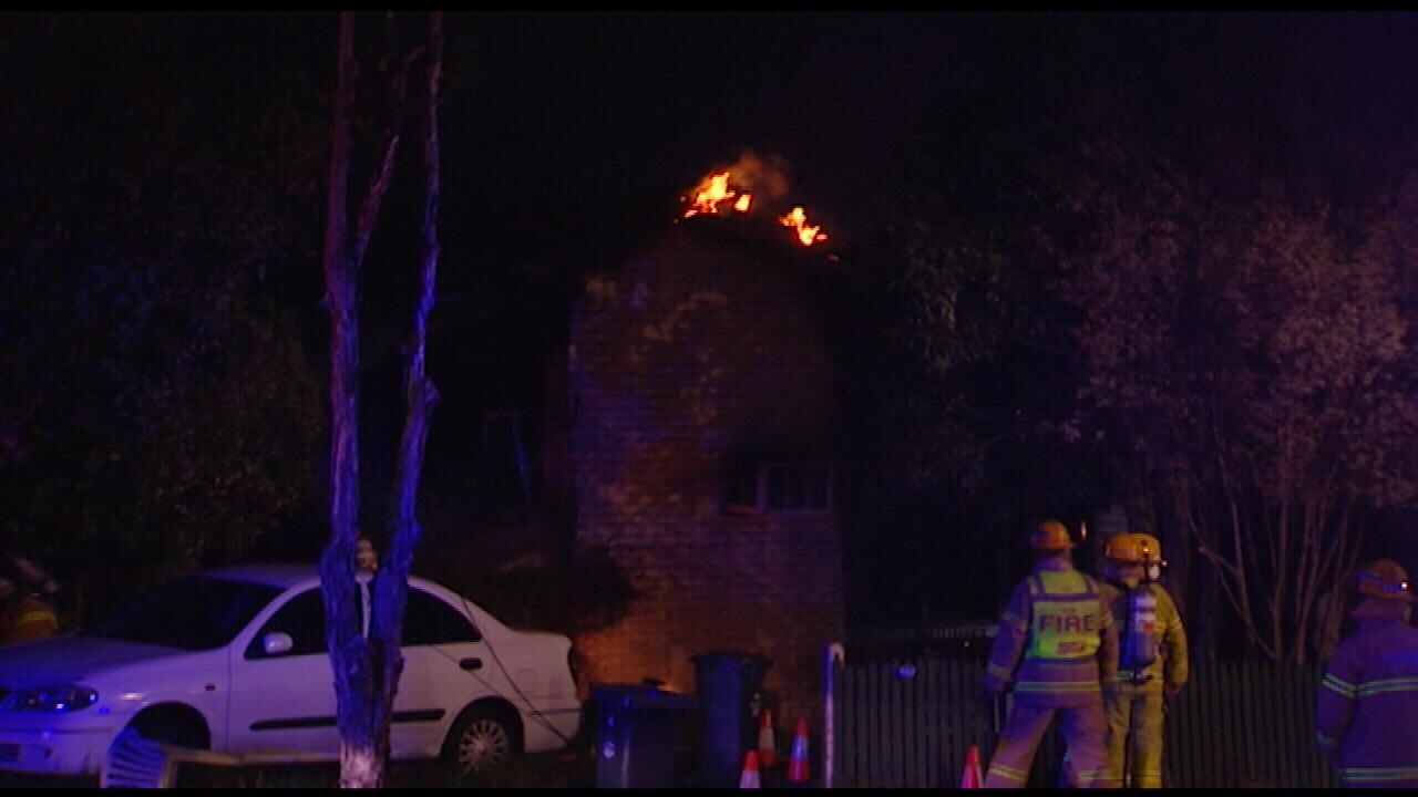 Fire rips through Frankston house