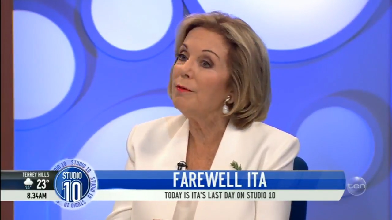 Ita Buttrose explains on-air why she is leaving Studio 10
