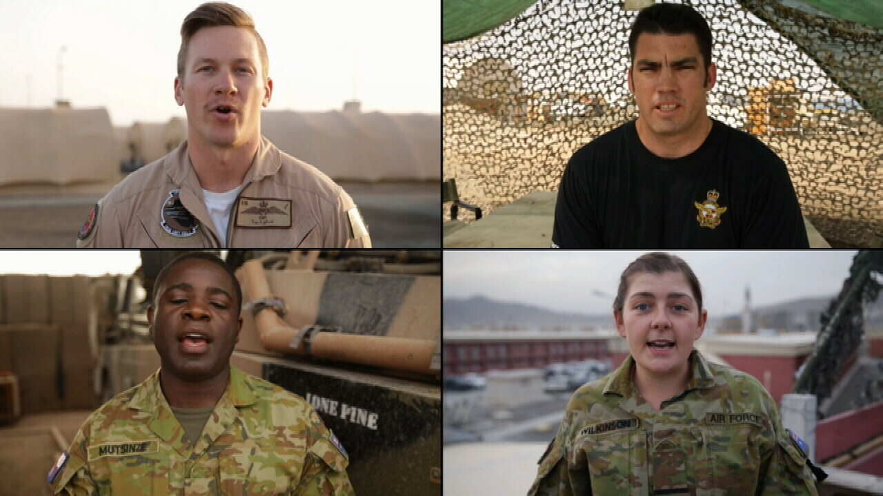 Troops send messages to loved ones