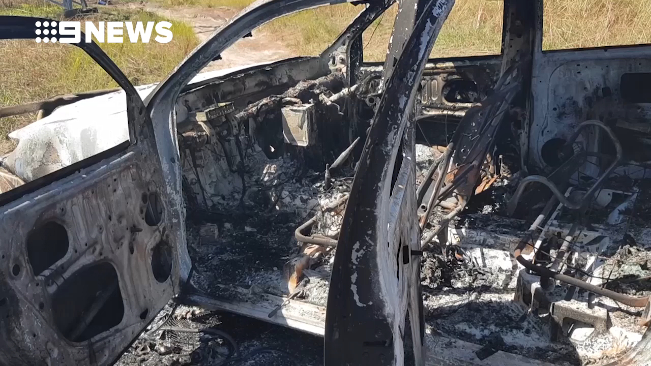 Soldier's ute stolen and torched on Anzac Day