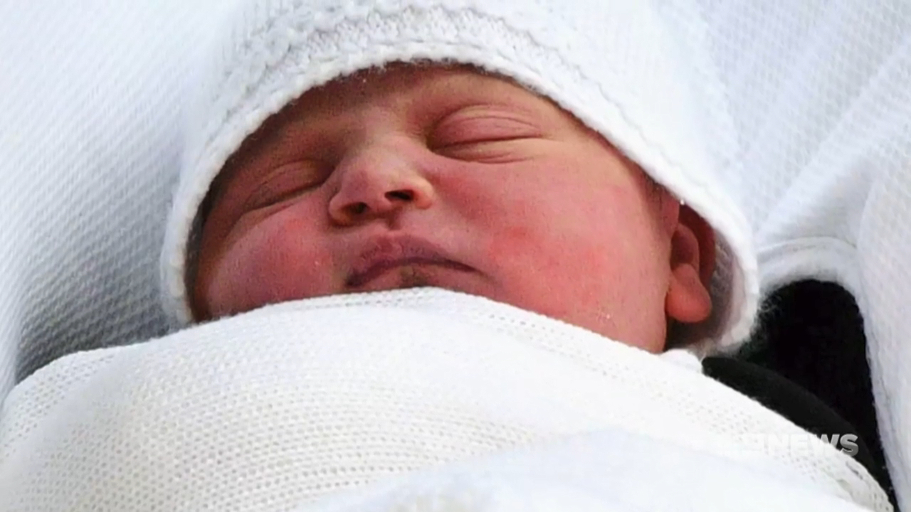 Royal baby spends his first night at home
