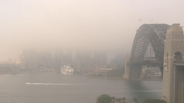 Sydney blanketed in fog
