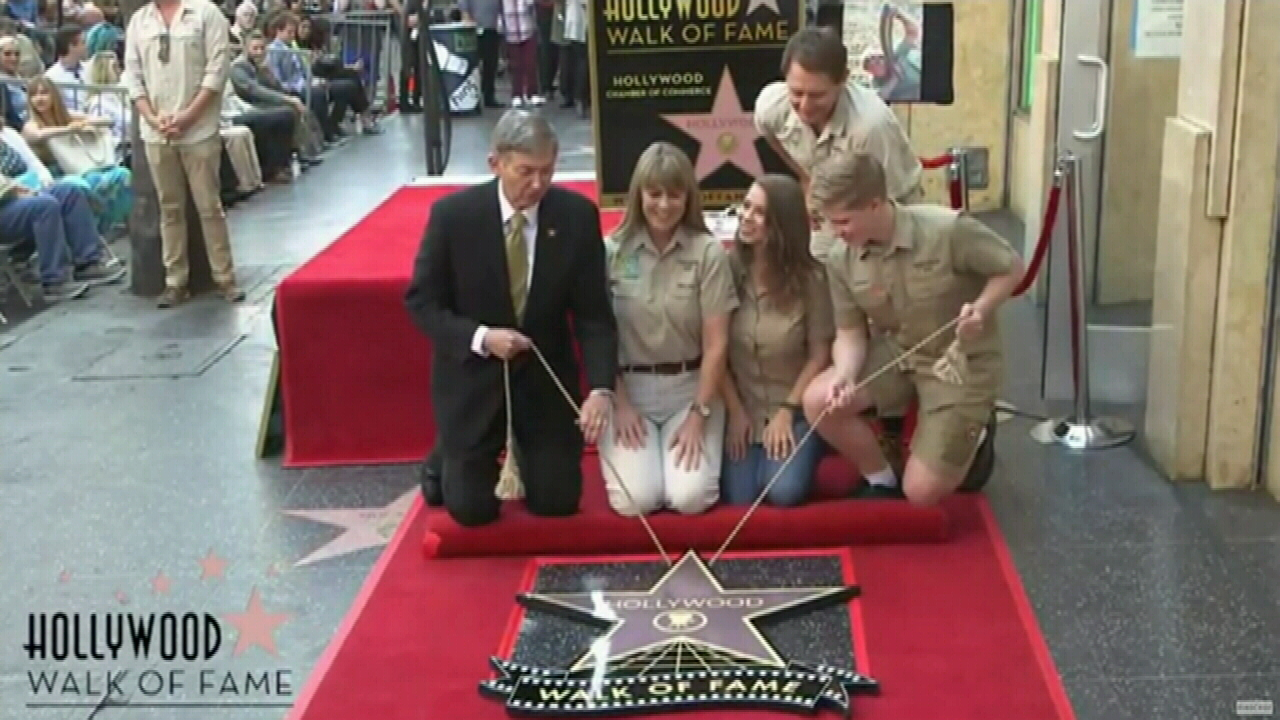 Steve Irwin's Hollywood tribute