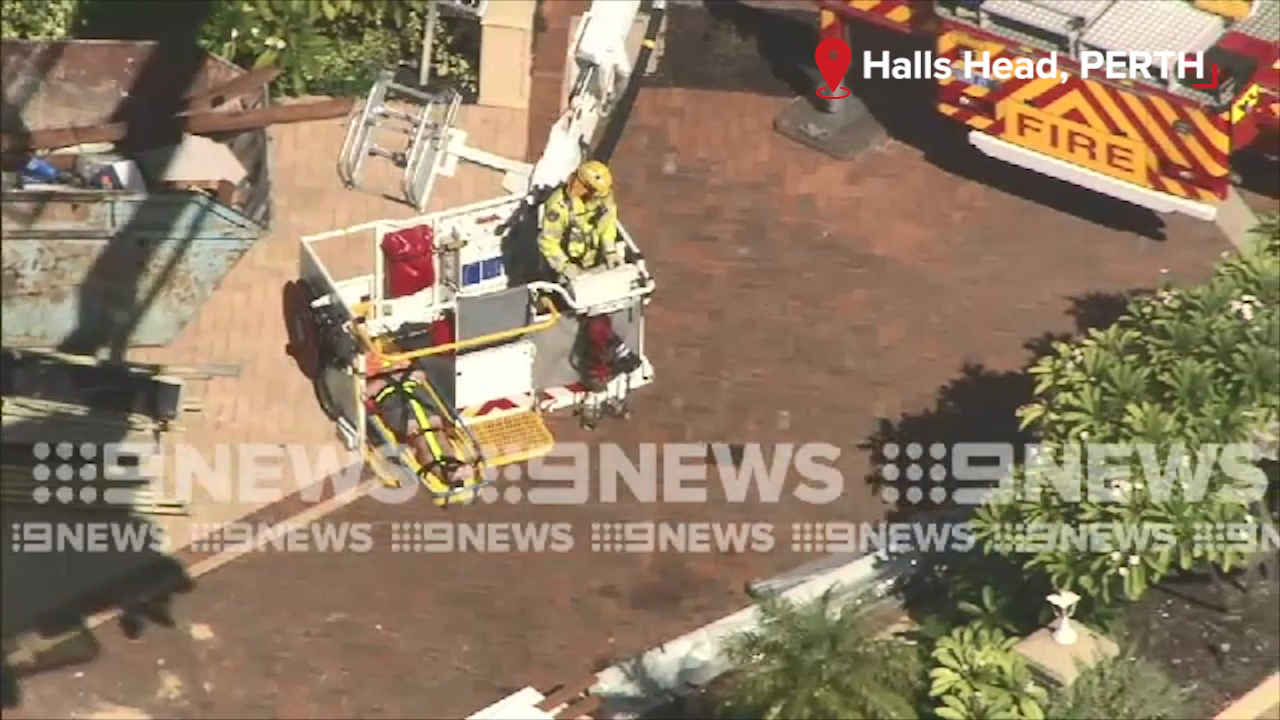 Construction worker falls from roof