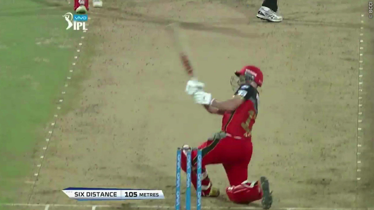 De Villiers smashes six out of the stadium