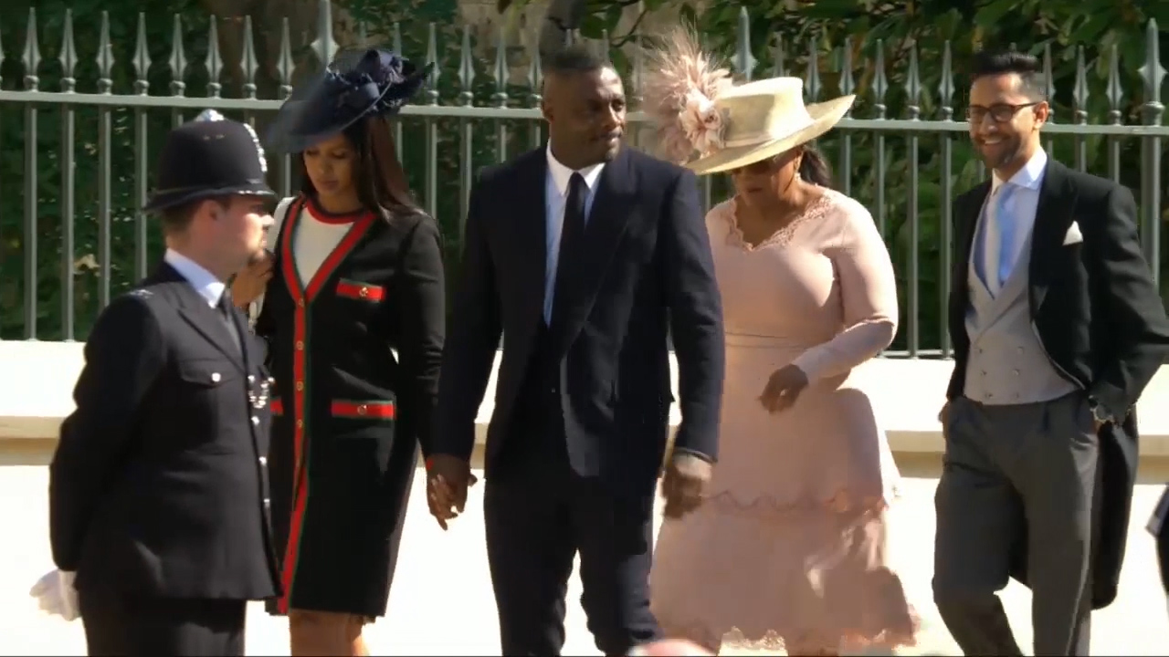 Royal Wedding 2018: Oprah and Idris Elba arrive at Royal Wedding