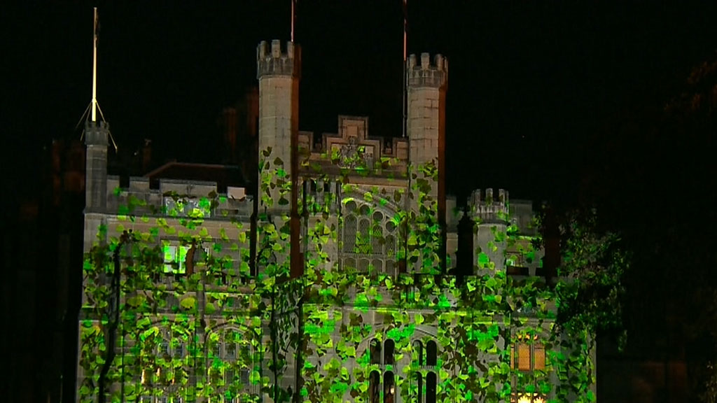 Government House lights up for Vivid Sydney