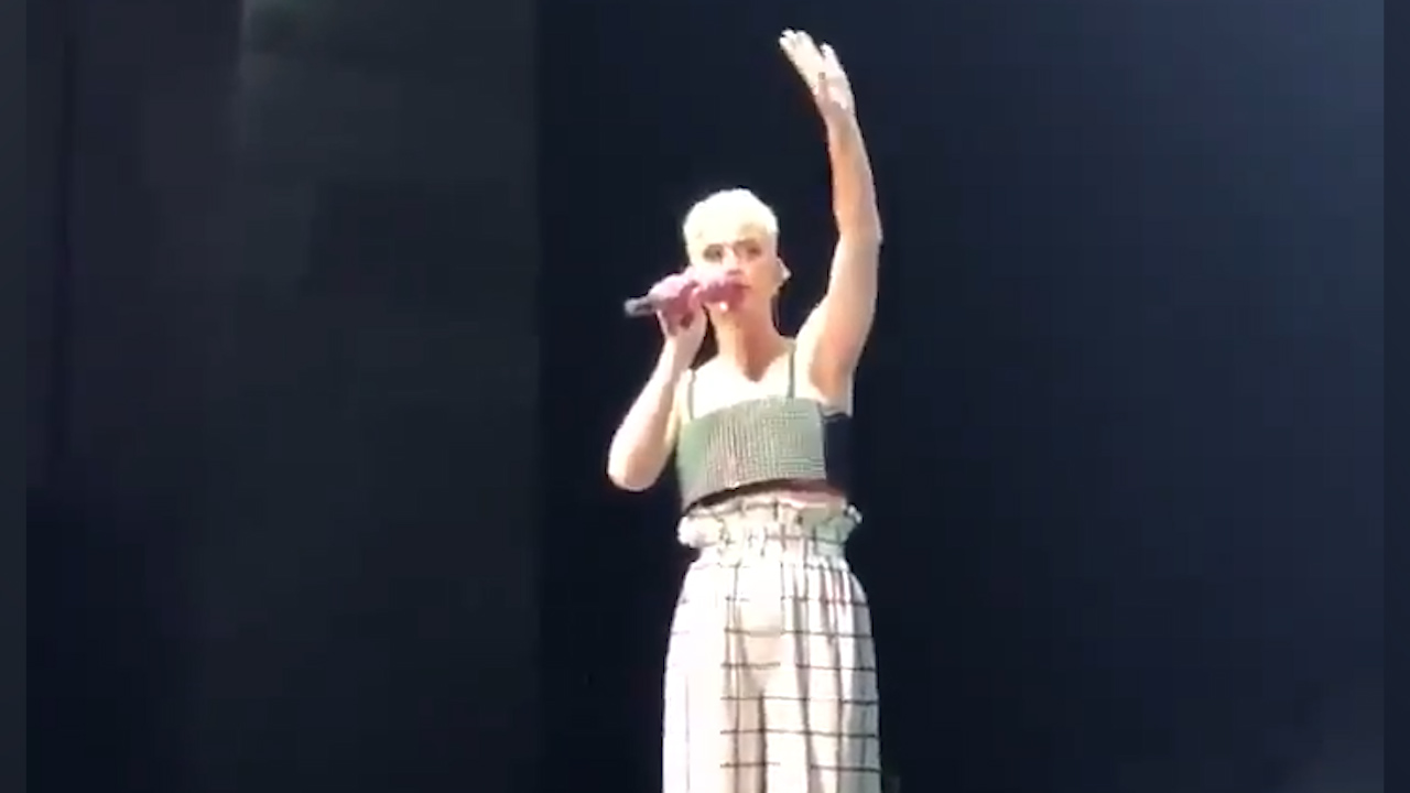 Katy Perry shouts her entire audience free beers at her Santa Barbara concert