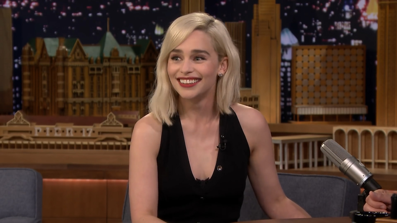 Emilia Clarke ditched a screening for her new movie to watch the Royal Wedding