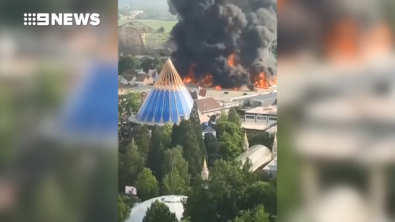 Huge fire at Europe's second most popular theme park.
