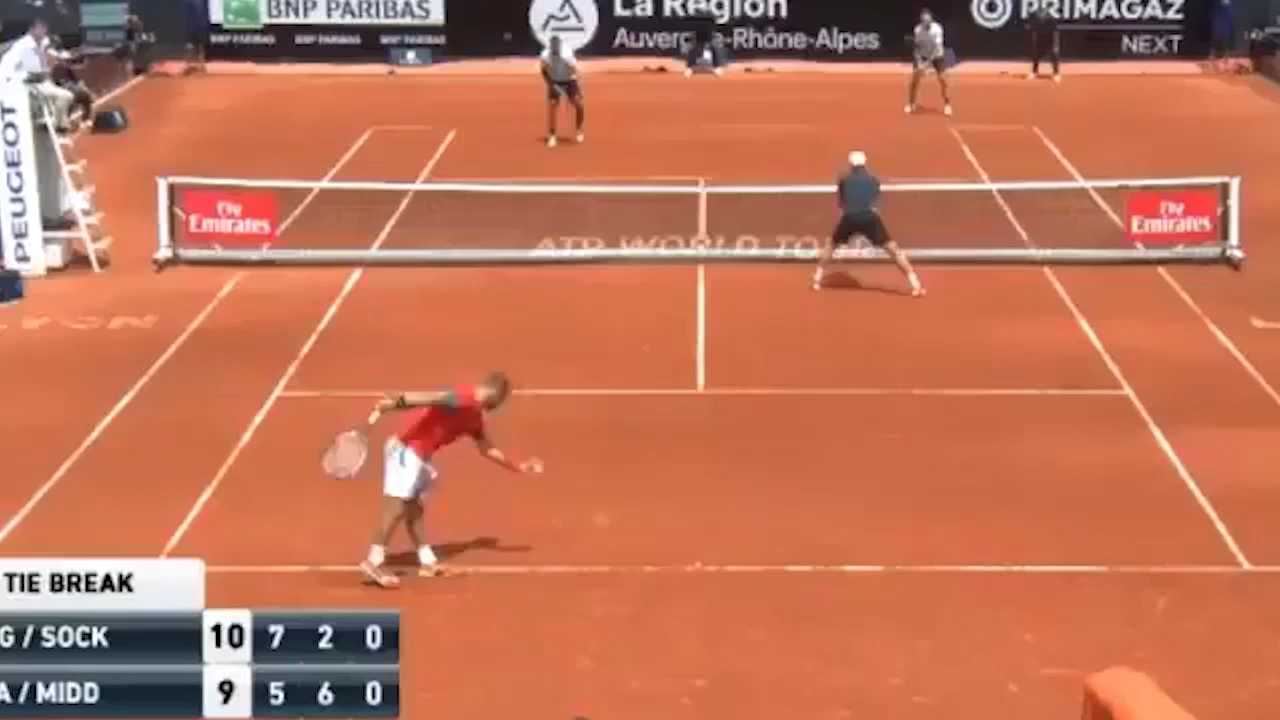 Kyrgios and Sock celebrate Fortnite style