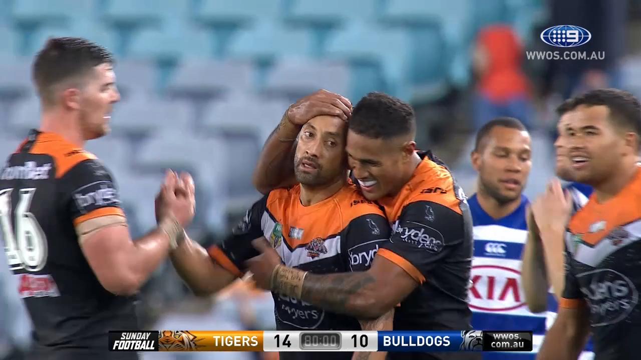 NRL Highlights: Wests Tigers v Canterbury Bulldogs - Round 12