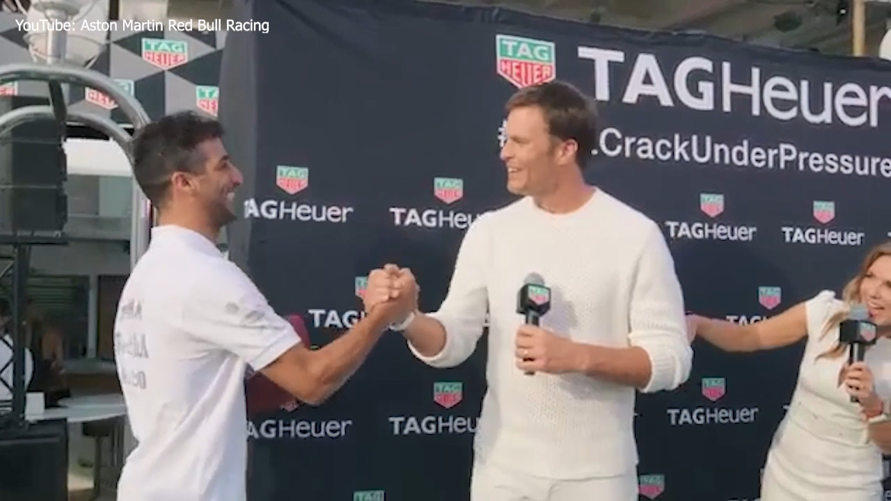 Ricciardo links up with Tom Brady