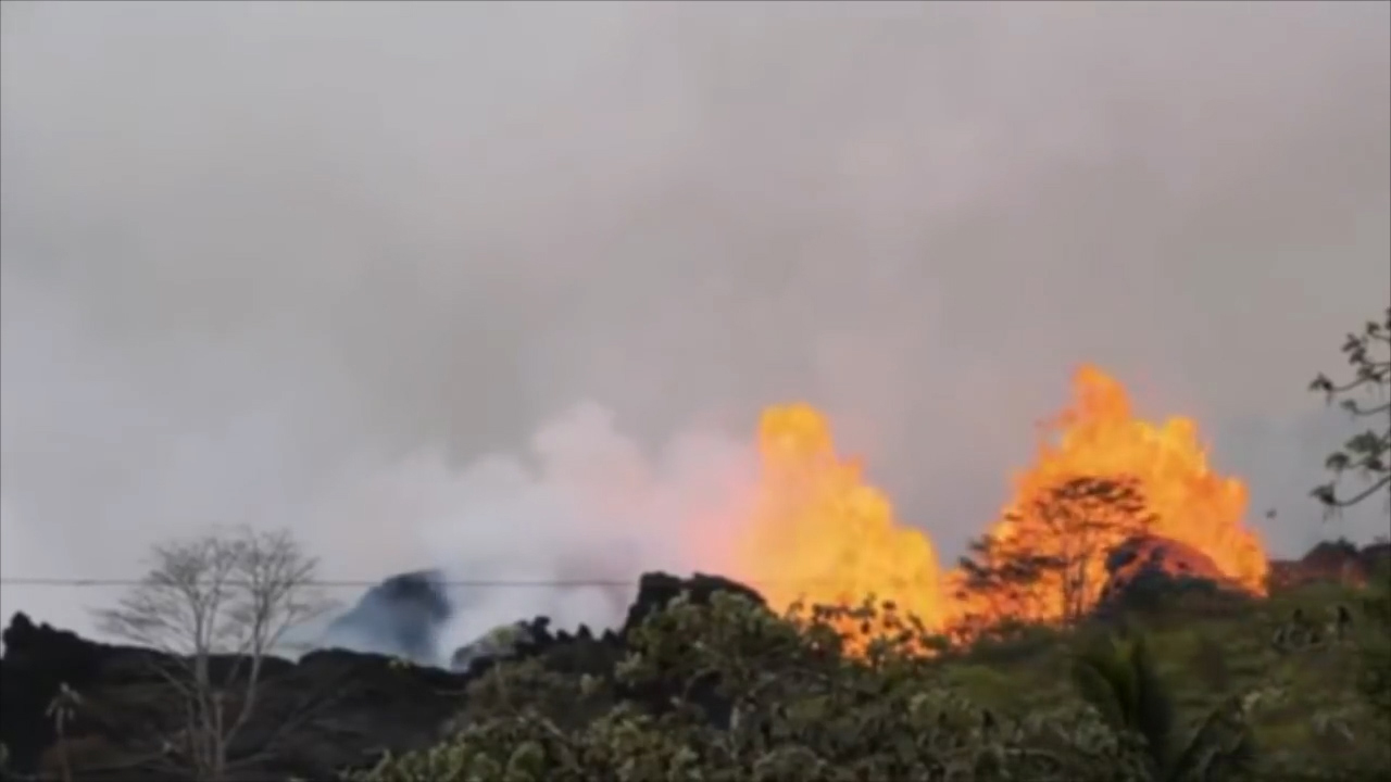 Livestream captures lava fountain from Hawaii's Kilauea volcano