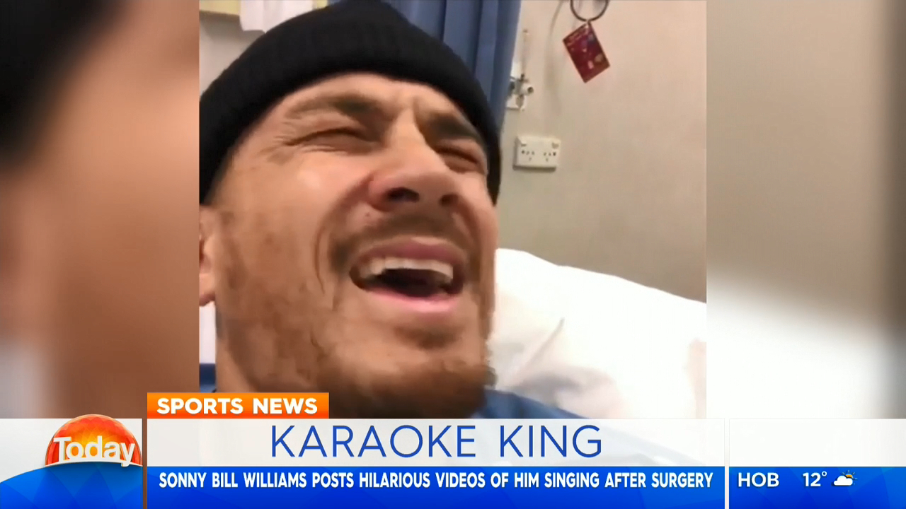 SBW serenades hospital staff after knee surgery
