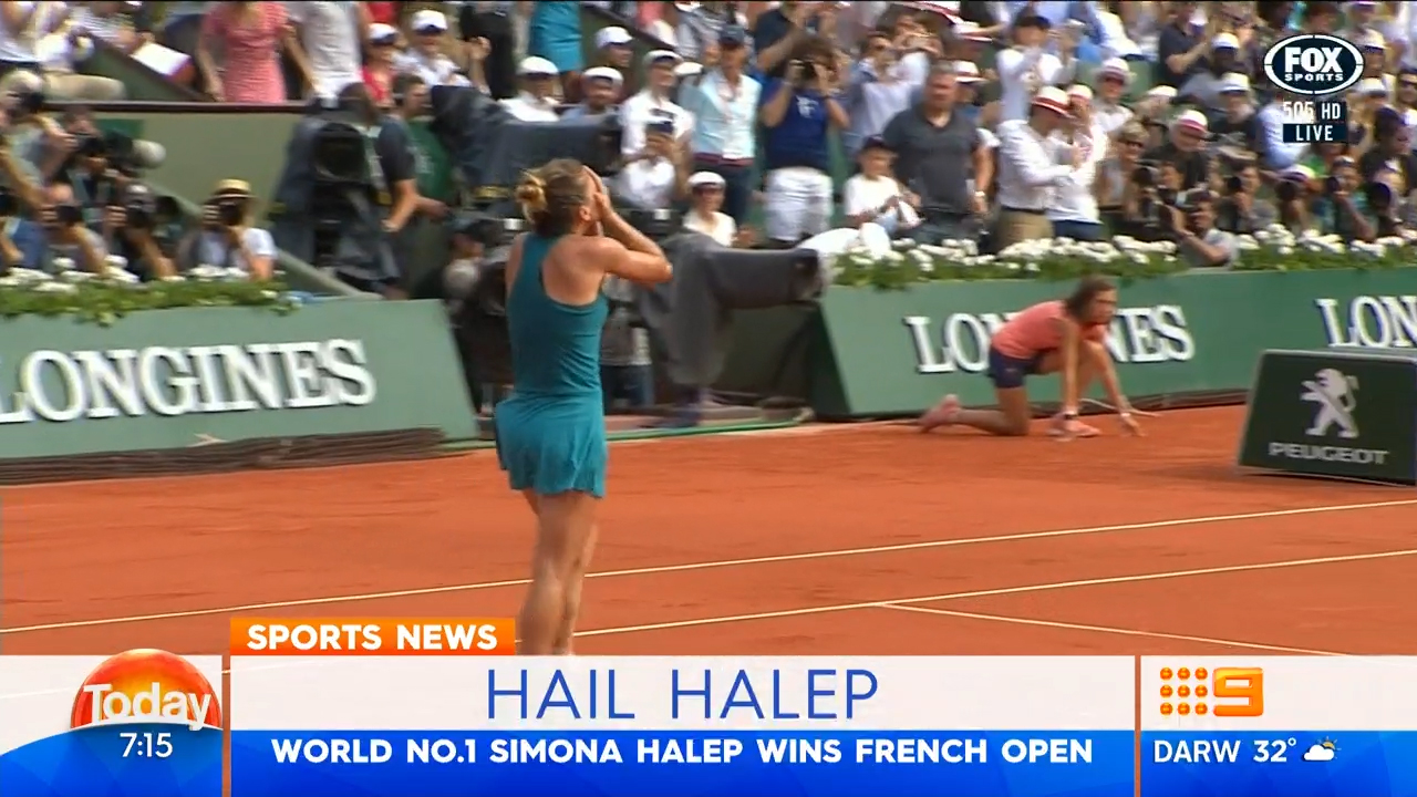 TODAY: Halep claims French Open crown