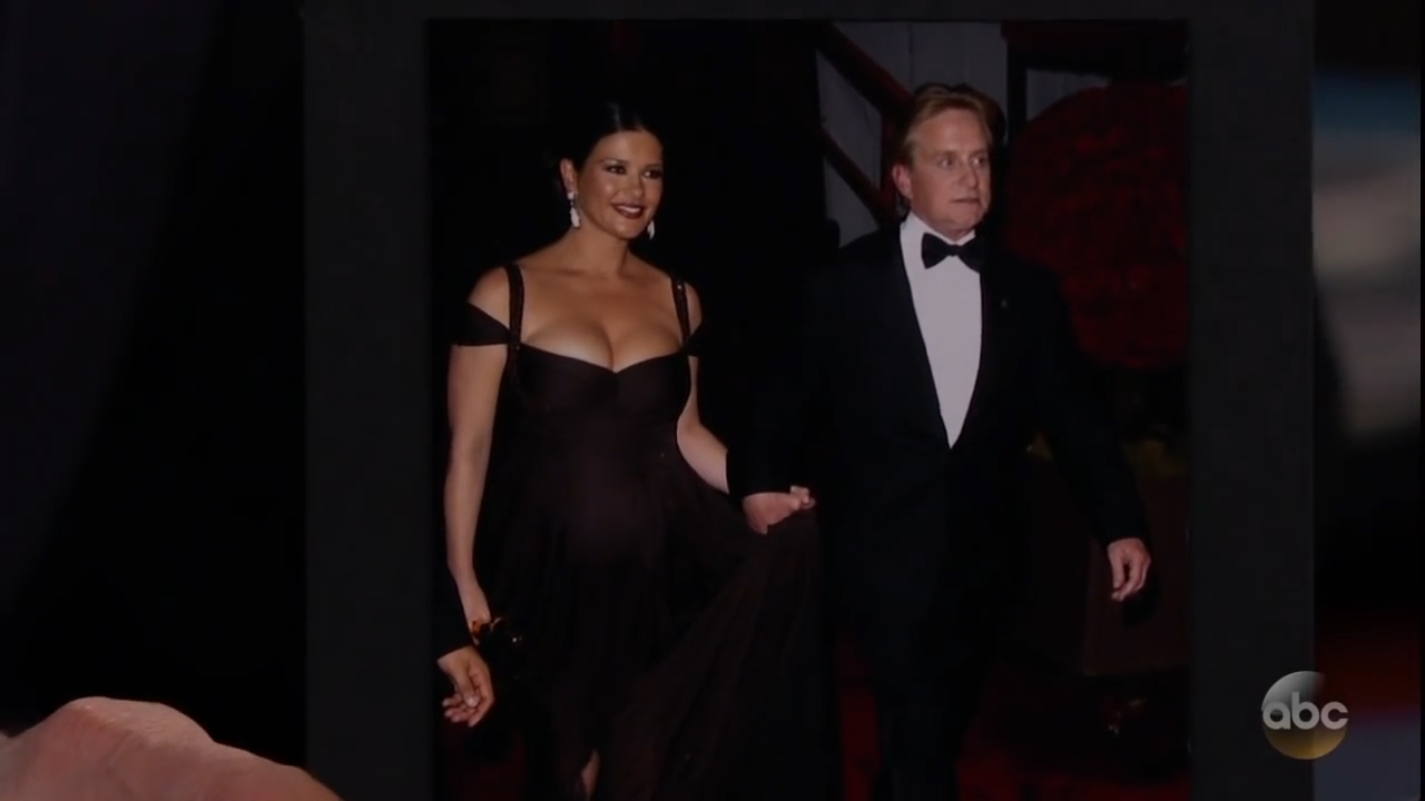 Catherine Zeta-Jones dishes on have 'biggest jugs' at Academy Awards