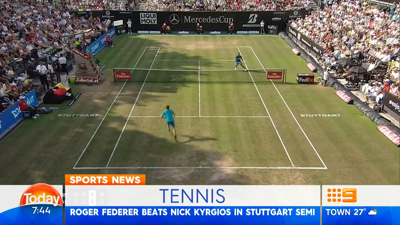 TODAY: Federer downs Kyrgios