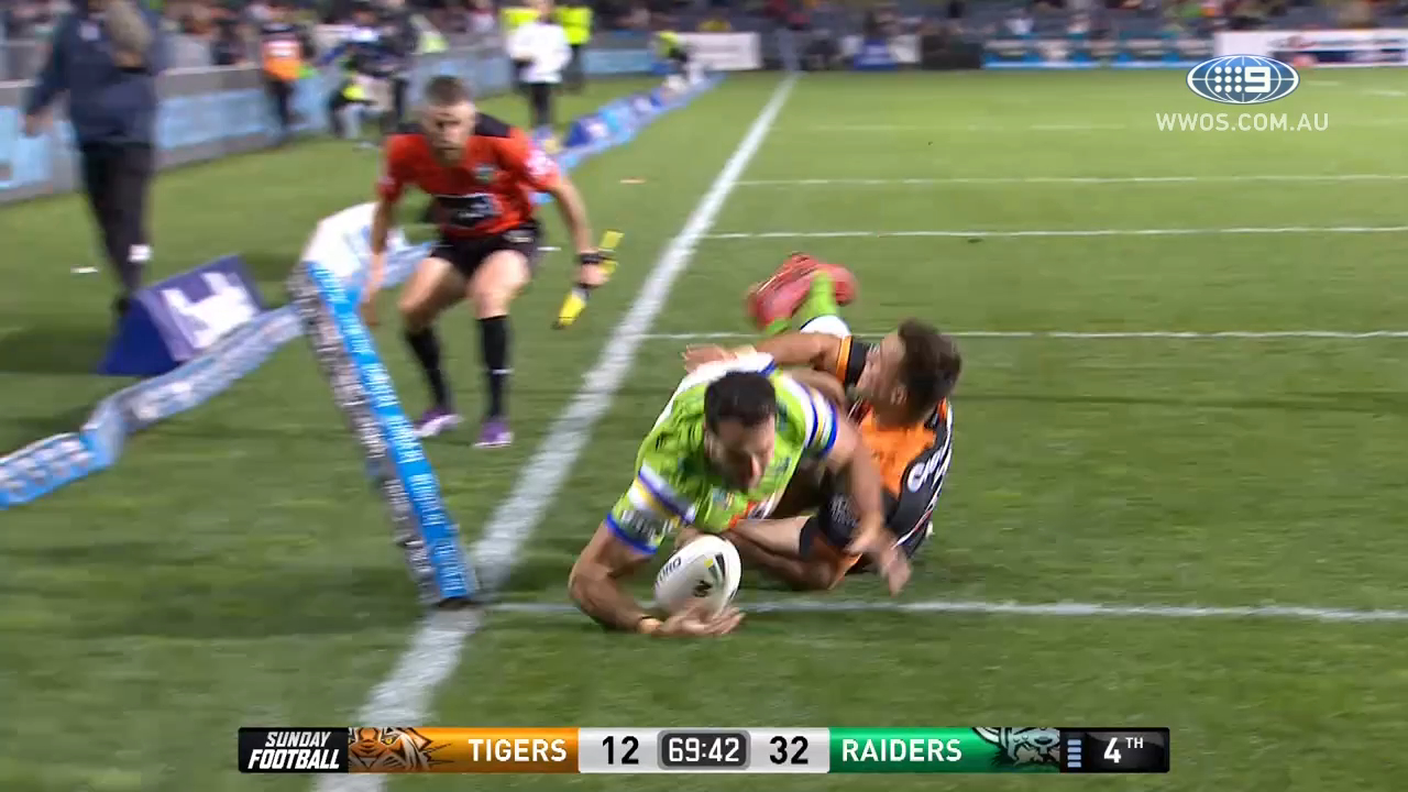 NRL Highlights: Wests Tigers v Canberra Raiders – Round 15