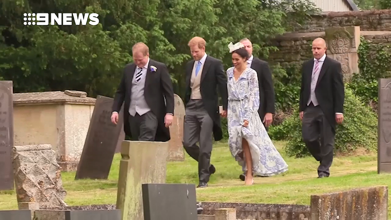 Harry and Meghan attend countryside wedding