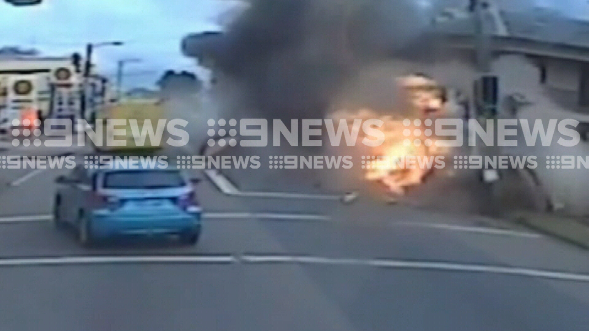 Incredible dashcam footage of Singleton crash