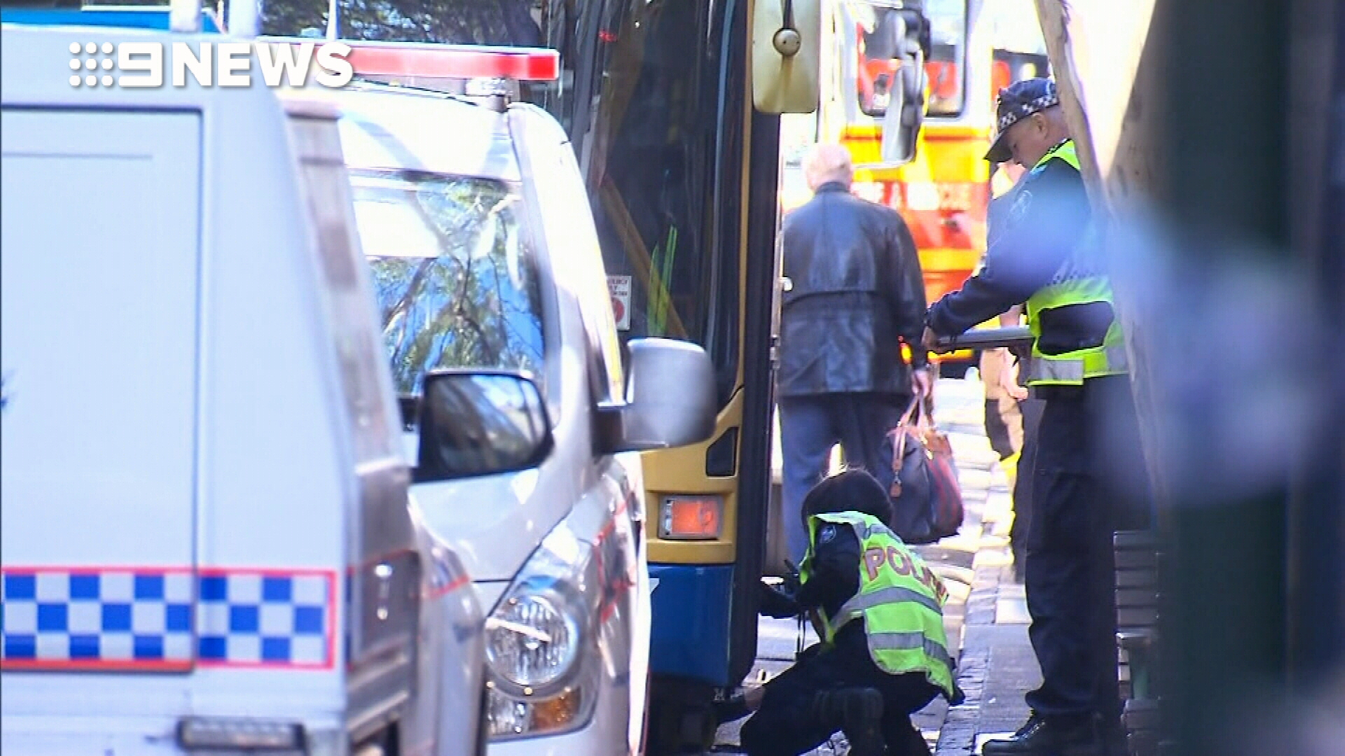Pedestrian hit by bus in Brisbane