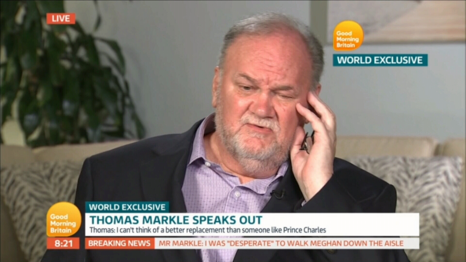 Thomas Markle explains his absence from Royal wedding