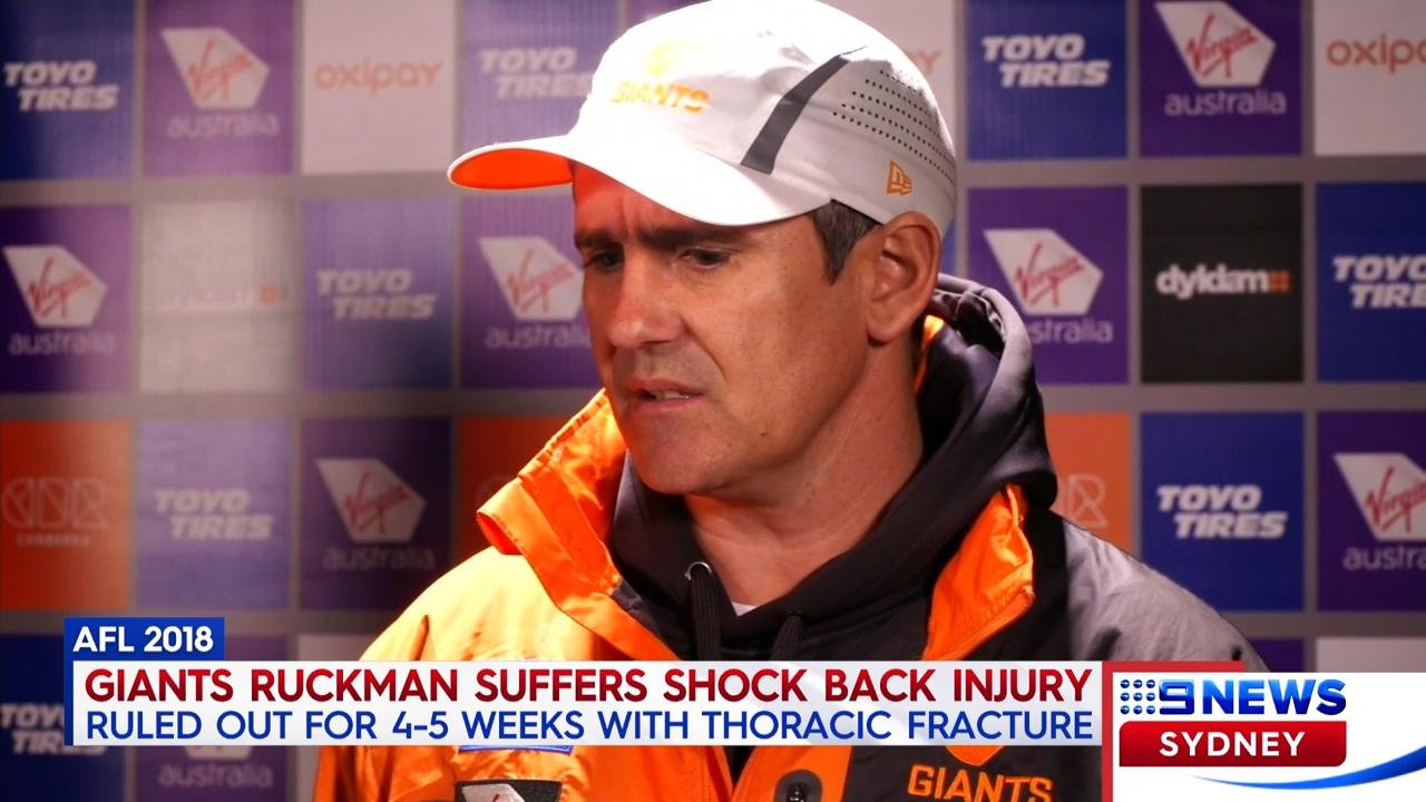 Giants ruckman injured