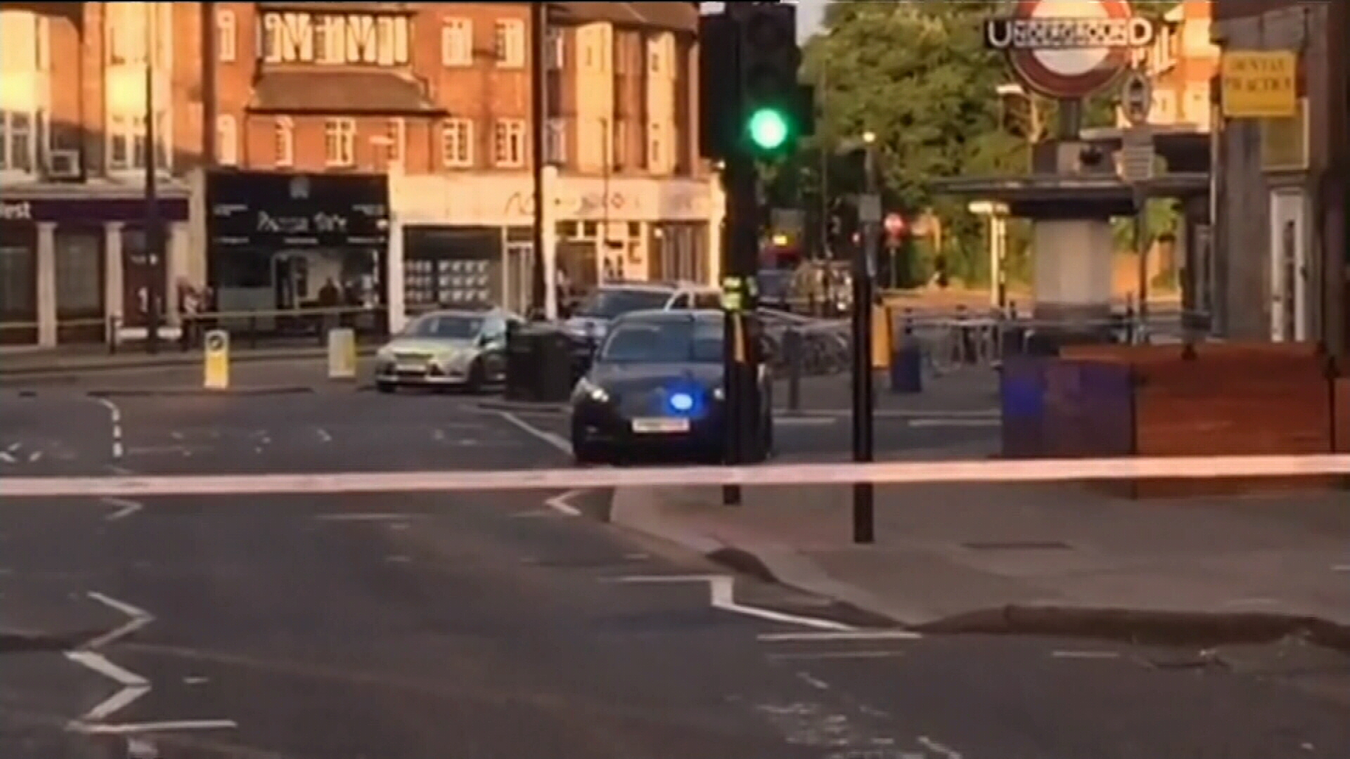 Explosion at Southgate tube station