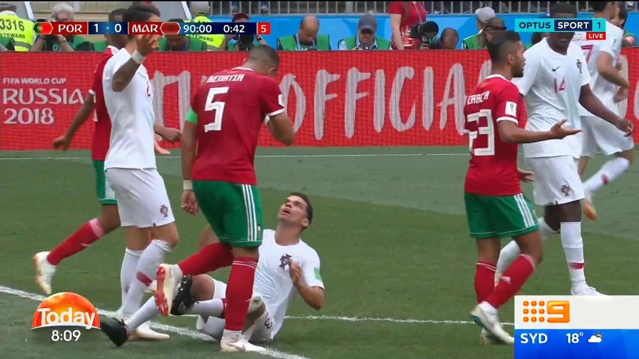 Portuguese defender in award-winning dive