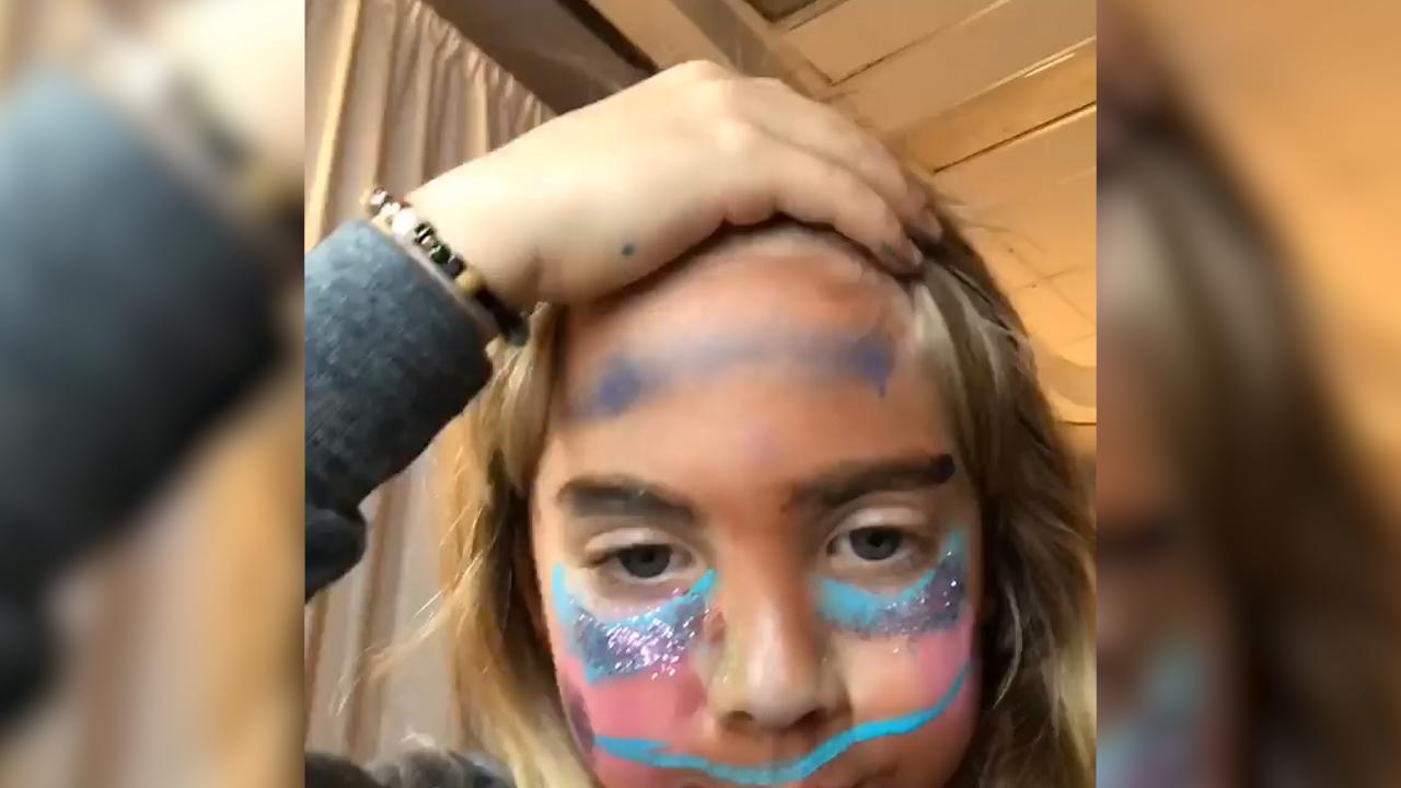 Pink's daughter Willow Hart hosts her own makeup tutorial