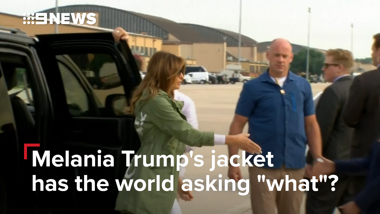 "Melania Trump's jacket has the world asking, ""what""?"
