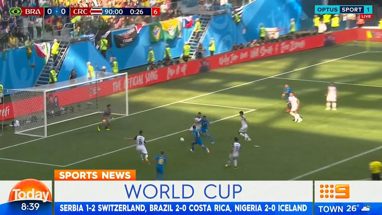 TODAY: Brazil escape trouble with last-gasp win over Costa Rica