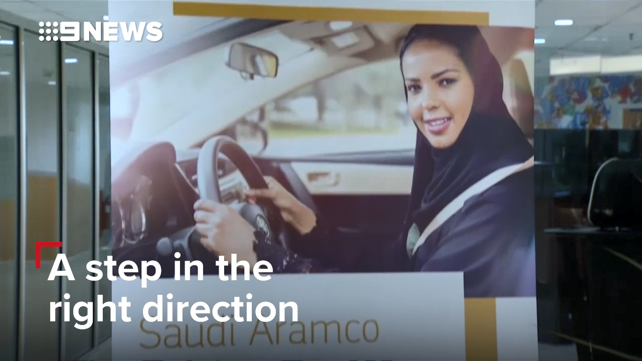 Saudi women are being given the right to drive