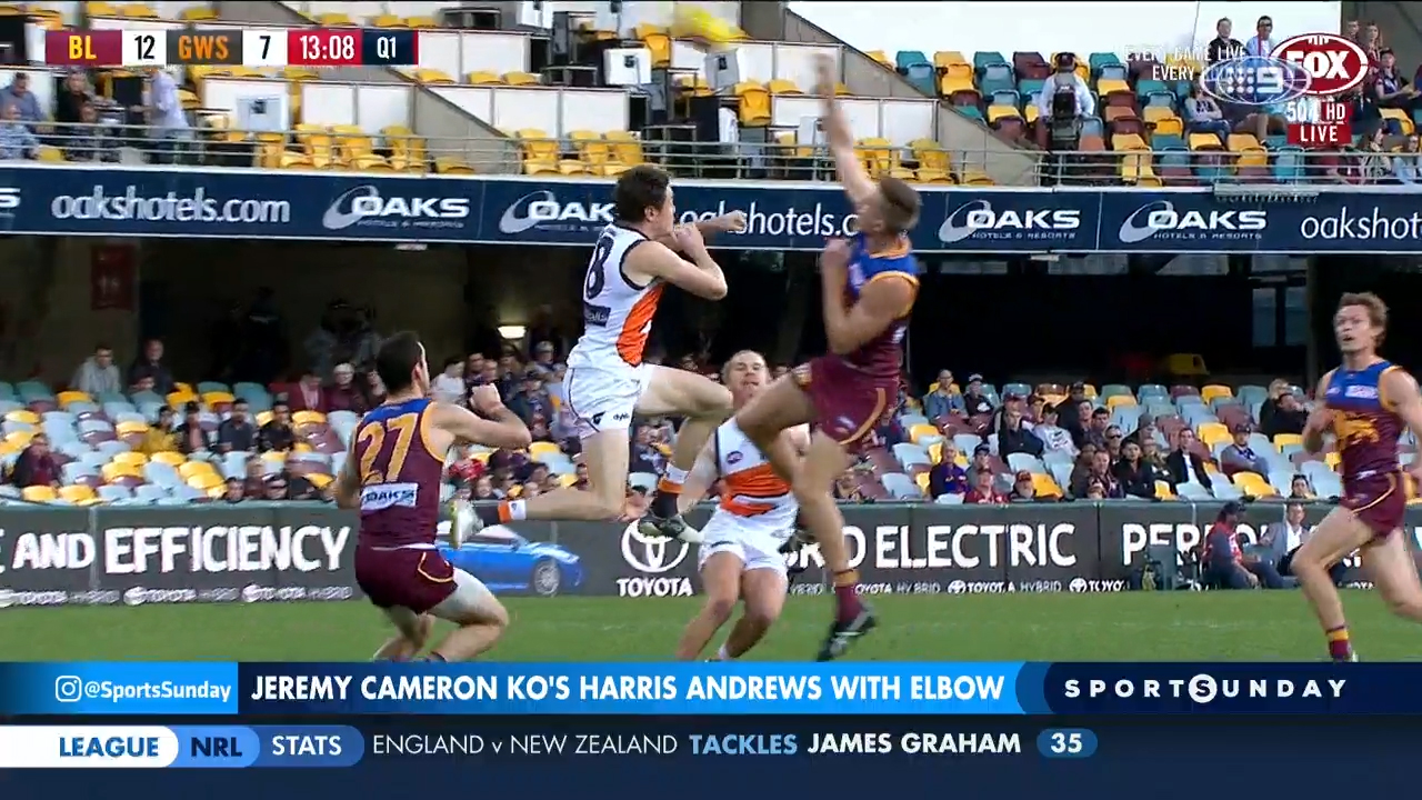SPORTS SUNDAY: Cameron elbow calls for AFL red card