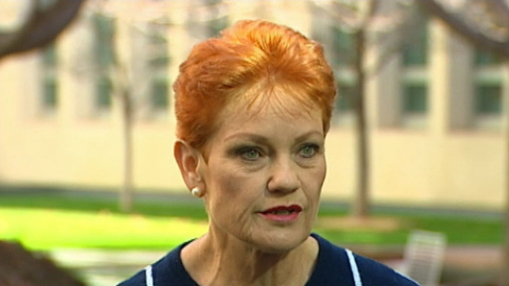 Pauline Hanson to vote 'no' to company tax cuts
