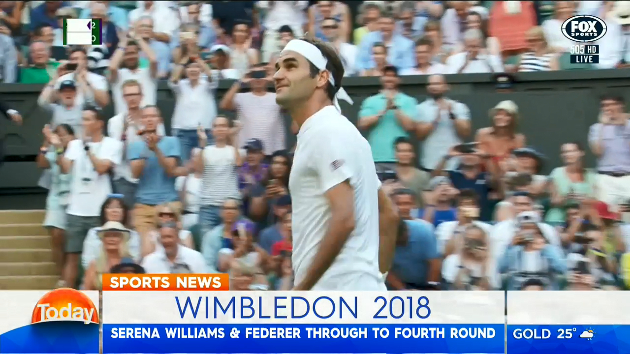 Federer advances to Round of 16
